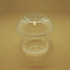 16oz Round Show Bowl Container With Dome Hinged Lid - 250 per carton