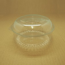24oz Round Show Bowl Container With Dome Hinged Lid - 150 per carton