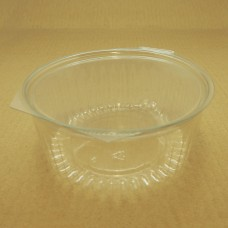 32oz Round Show Bowl Container With Flat Hinged Lid - 150 per carton