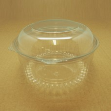 32oz Round Show Bowl Container With Dome Hinged Lid - 150 per carton