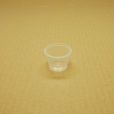 Plastic Round Portion Container and separate lid; sauce cup 30 x 100pk 3000ctn MW-P100