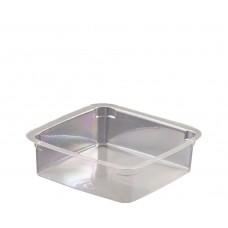 Plastic Clear Square Tub; PET 125ml 20 x 25pk/ctn 500/ctn