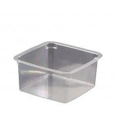 Plastic Clear Square Tub; PET 250ml 20 x 25pk/ctn 500/ctn