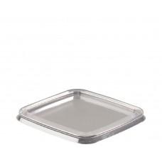 Plastic Lid; to suit clear square PET tubs 20 x 25pk/ctn 500/ctn