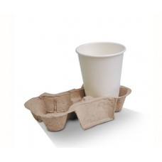 Cup Holder Tray; egg carton moulded style 2 cell 2 x 100pk/ctn 200/ctn