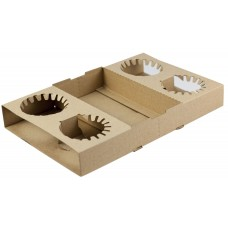 Cup Holder Tray; folding cardboard 4 cell 100/ctn