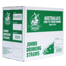 Straws; jumbo green 3000/ctn