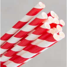 Straws; Regular paper red & white stripe 2500/ctn