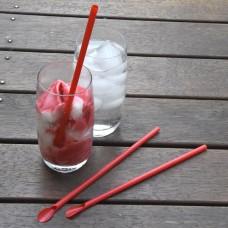 Spoonstraws; red 10 x 250pk/ctn 2500/ctn