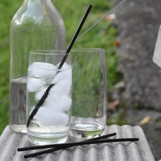 Regular Plastic Straws Black - 5000 per carton