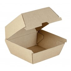 Kraft Cardboard Burger Box - 250 per carton