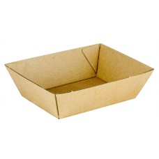 No.1 Size Cardboard Food Tray 130 x 92 x 50mm 500/ctn