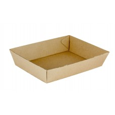 No.3 Size Cardboard Food Tray 180 x 134 x 45mm 300 ctn