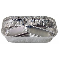 Foil Container; #663 3 compartment 205 x 155 x 34mm 300ctn