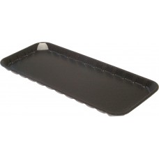 "11 x 5"" Black Foam Trays - 280 x 125 x 14 mm - 100 pack"