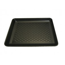 "14 x 11"" Black Open Cell Foam Trays - 365 x 285 x 30 mm - 180 pack"