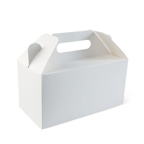 Cardboard Carry Pack; white 220 x 115 x 114mm high