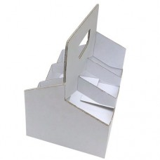 Cardboard Carry Pack; 6 bottle white 200/ctn