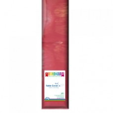 Tablecover; plastic 1.2m x 30m - Red
