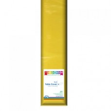 Tablecover; plastic 1.2m x 30m - Yellow