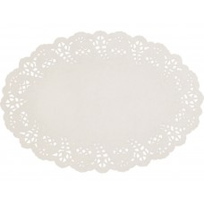 "Doyleys; paper lace oval 10.5 x 7.5"" 268 x 190mm #2 8 x 250pk/ctn 2000/ctn"