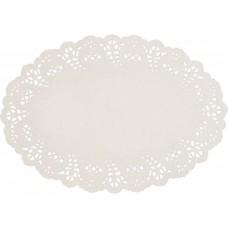 "Doyleys; paper lace oval 9 x 6.5"" 230 x 164mm #1 8 x 250pk/ctn 2000/ctn"