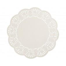 "Doyleys; paper lace round 14"" 350mm Enviroboard 4 x 250pk/ctn 1000/ctn"