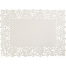 Doyleys; paper lace rectangular 350 x 250mm 4 x 250pk/ctn 1000/ctn