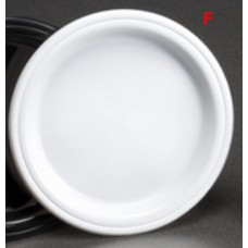 "White Heavy Duty 9"" Round Plastic Plates 230mm 500 ctn"
