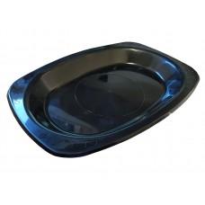 Plastic Plates; oval 230 x 160mm black 10 x 50pk/ctn 500/ctn