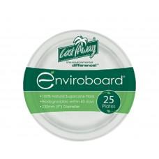 "Enviroboard Plates; round 9"" 230mm 10 x 25pk 250/ctn"