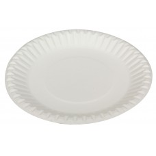 "Uncoated Paper Plates; round 9"" 230mm 10 x 50pk 500/ctn"