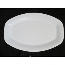 "Platter; 20"" 510mm large white 4 x 10pk 40ctn"