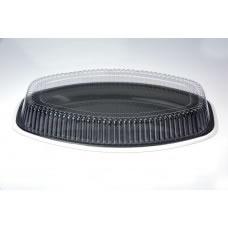 """Platter; 20"""" 510mm large black 4 x 10pk 40ctn"""
