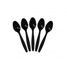 Plastic Cutlery; teaspoon black 100pk
