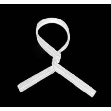 """Twist Ties; paper white 4"""" 100mm 10 x 1000pk/ctn 10,000/ctn"""