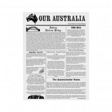 Greaseproof Paper; printed newspaper style 310 x 380mm 200/pk 10 pk/ctn
