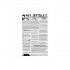 Greaseproof Paper; printed newspaper style 1/2 190 x 310mm 200/pk 10pk/ctn
