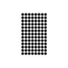 Greaseproof Paper; black gingham 1/2 190 x 310mm 200/pk 10pk/ctn