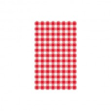 Greaseproof Paper; red gingham 1/2 190 x 310mm 200/pk 10pk/ctn