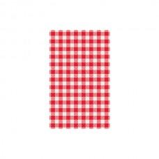 Greaseproof Paper; red gingham Kara 430 x 220mm 500/pack