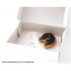 Cake Box; 12 x 12 x 4 (30cm x 30cm x 10cm) White 100pk