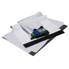 Poly Courier Mail Bags - White/Grey 450 x 600mm 300 per carton