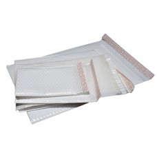 No.1 White Armour Padded Mailer Bags 151 x 220mm + 50mm Flap w Tape 350/ctn