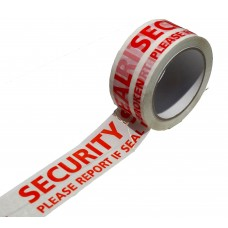 Warning Tape; 'Security Seal' white/red 50mm x 66m 36rolls/ctn