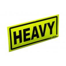 Warning Labels; 'Heavy' 500/pk