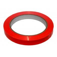 Bag Sealing Tape; Red 12mm x 66m 12 x 1pk/ctn 144rolls/ctn