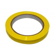 Bag Sealing Tape; Yellow 12mm x 66m 12 x 1pk/ctn 144rolls/ctn