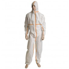 Coveralls; Large white Hazguard SMS 5/6 50/ctn