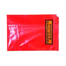 Document Envelopes - Red 'Invoiced Enclosed' 125x175mm 1000ctn